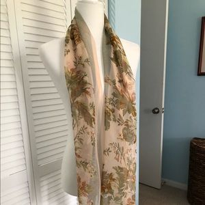 Ann Taylor floral scarf